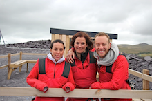 Olympian Beth Tweddle completes zipwire challenge for Claire House