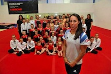 Olympic star unveils new complex for gymnastics