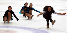 Dancing on Ice champion Beth Tweddle wows Deeside skaters