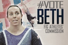 Beth Tweddle nominated for FIG athlete's commission