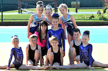 Beth meets gymnasts from Bexton Primary School