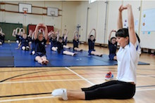 Star British gymnast Beth Tweddle inspires young gymnasts at William Allitt School