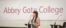 Beth speaks at Abbey Gate College prize giving