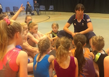 Beth gives young gymnasts a boost