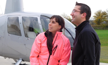 Beth achieves helicopter flight dream