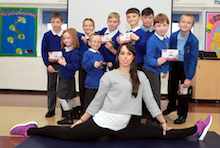 Beth puts pupils at Bowness Community Primary School through their paces
