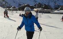 Beth on learning to ski!