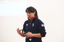 Beth launches Total Gymnastics programme at The King's School