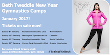BETH TWEDDLE MBE ANNOUNCES NEW YEAR GYMNASTICS CAMPS