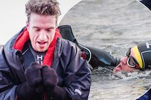 DJ Greg James swims through pain barrier!