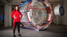 Blue Peter's Lindsey Russell set to cross Irish Sea in zorb for Sport Relief