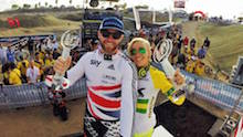 Great Britain's Liam Phillips has been crowned 2014 UCI BMX Supercross World Cup champion in a dramatic finale in Chula Vista, California.