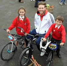 Liam in Bolton to teach youngsters about the importance of staying healthy!