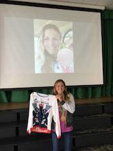 Olympic medallist Vicky inspires pupils at Newent Community School