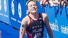 Triathlon World Cup: Vicky Holland wins gold on return in Cape Town