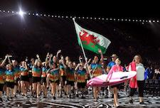 Honour for Wiltshire swimmer Jazz Carlin as she carries Welsh flag at Commonwealth Games opening ceremony